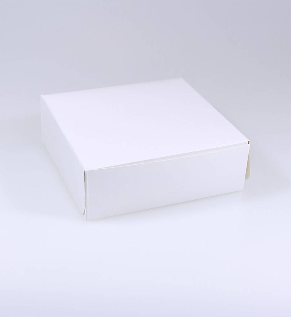 Pastry Box White Varnish - 5 cm high - 100 pieces