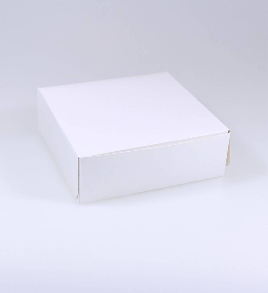 Patisserie doos wit vernis - 5 cm hoog - 100 stuks