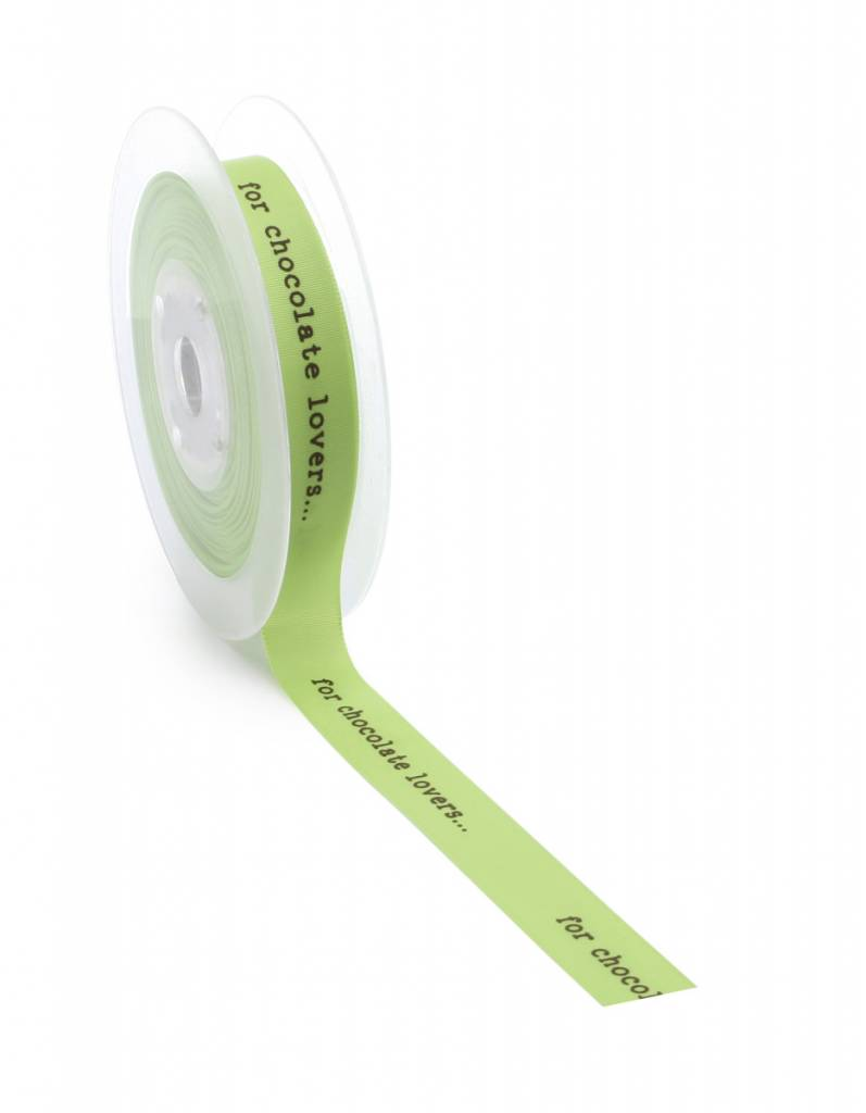 For chocolate lovers ribbon - Spring Green - 20m