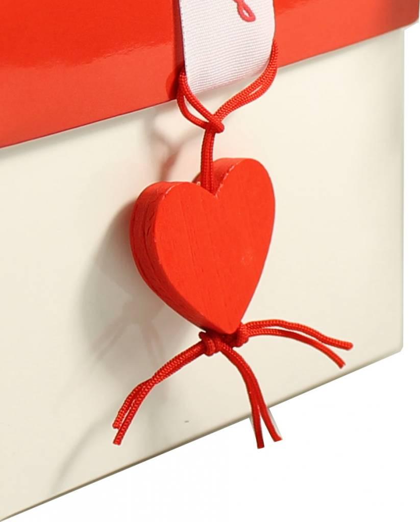 Colgante de corazón - 2,5 * 2 cm - 50 unidades