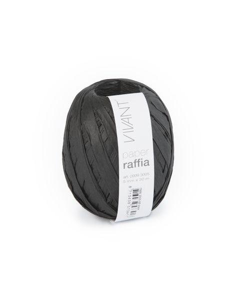 Paper Raffia - Black - 6 rollen