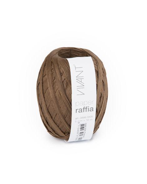 Paper Raffia - Brown - 6 Rollen