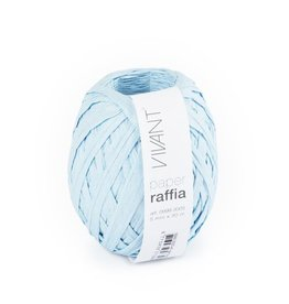 Paper Raffia - Light Blue - 6 rollen