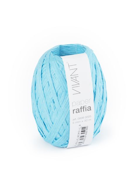 Paper Raffia - Turquoise - 6 rollos