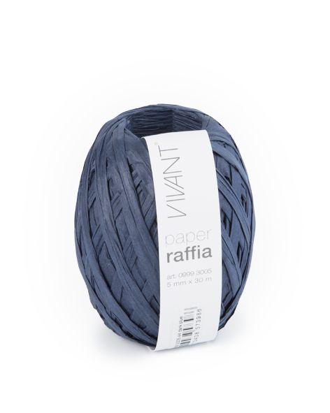Paper Raffia - Dark Blue - 6 rollos