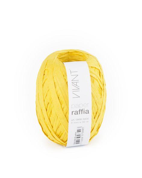 Paper Raffia - Yellow - 6 Rolls