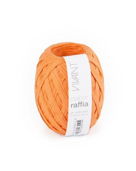 Paper Raffia - Orange - 6 Rolls