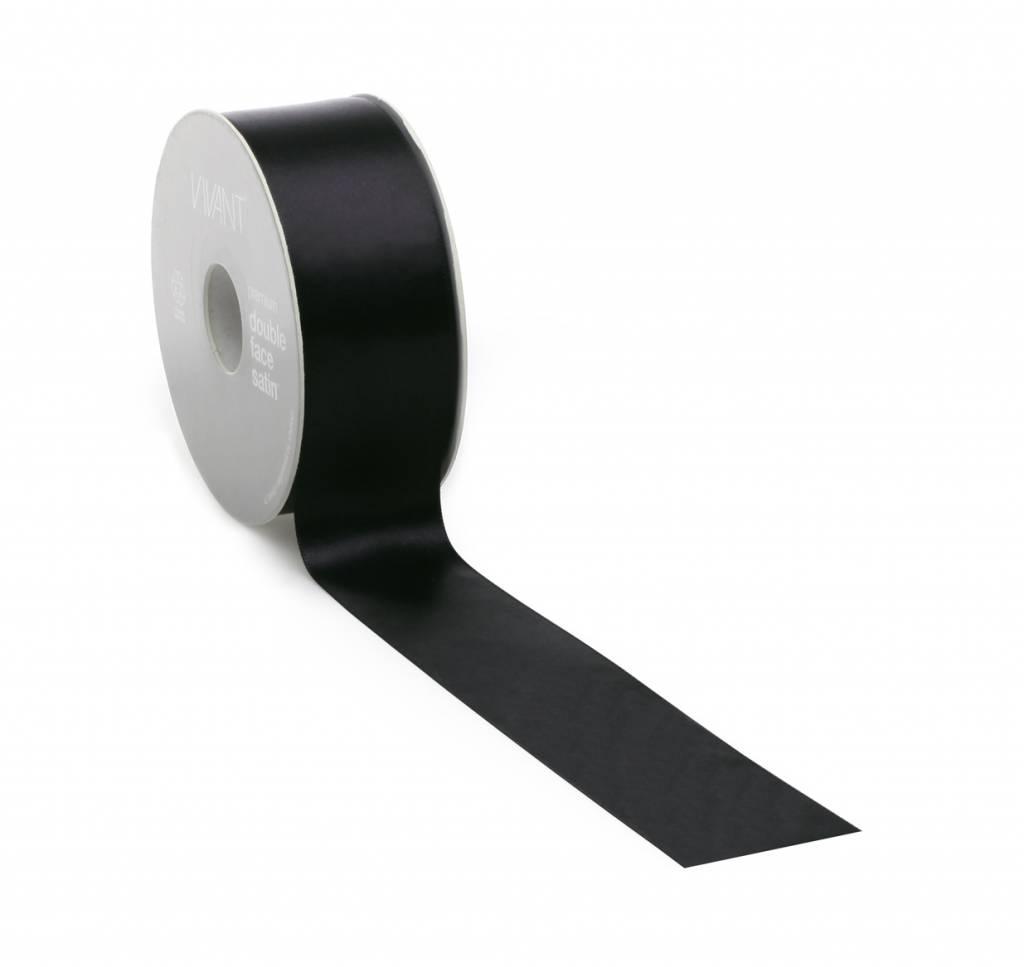 Double Face Satin ribbon - Black