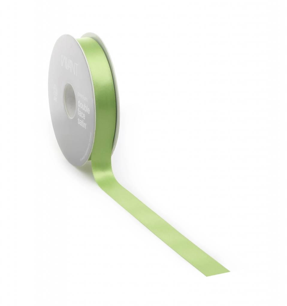 Double Face Satin Band - Spring Green