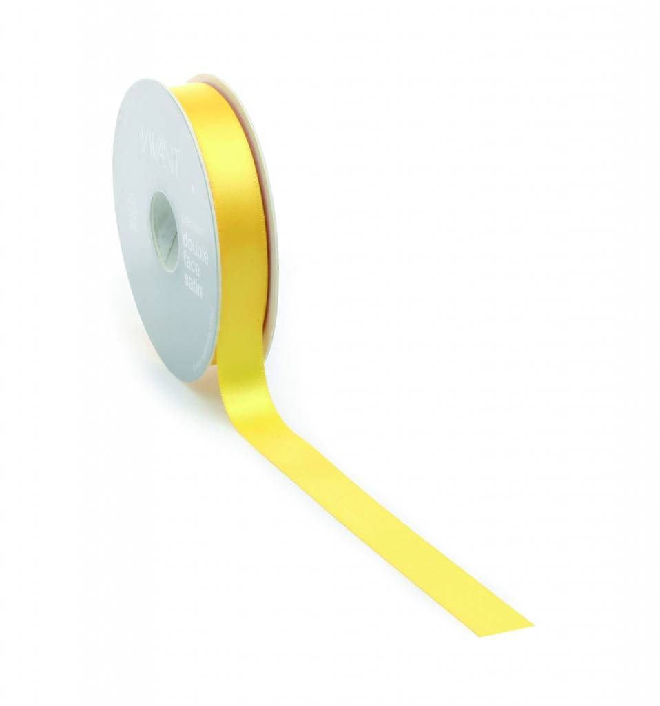 Double Face Satin lint - Yellow
