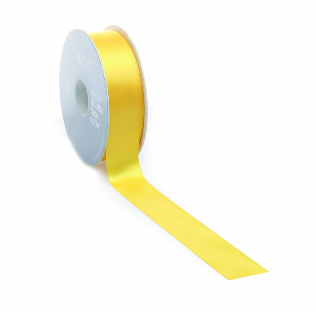 Double Face Satin Band - Yellow