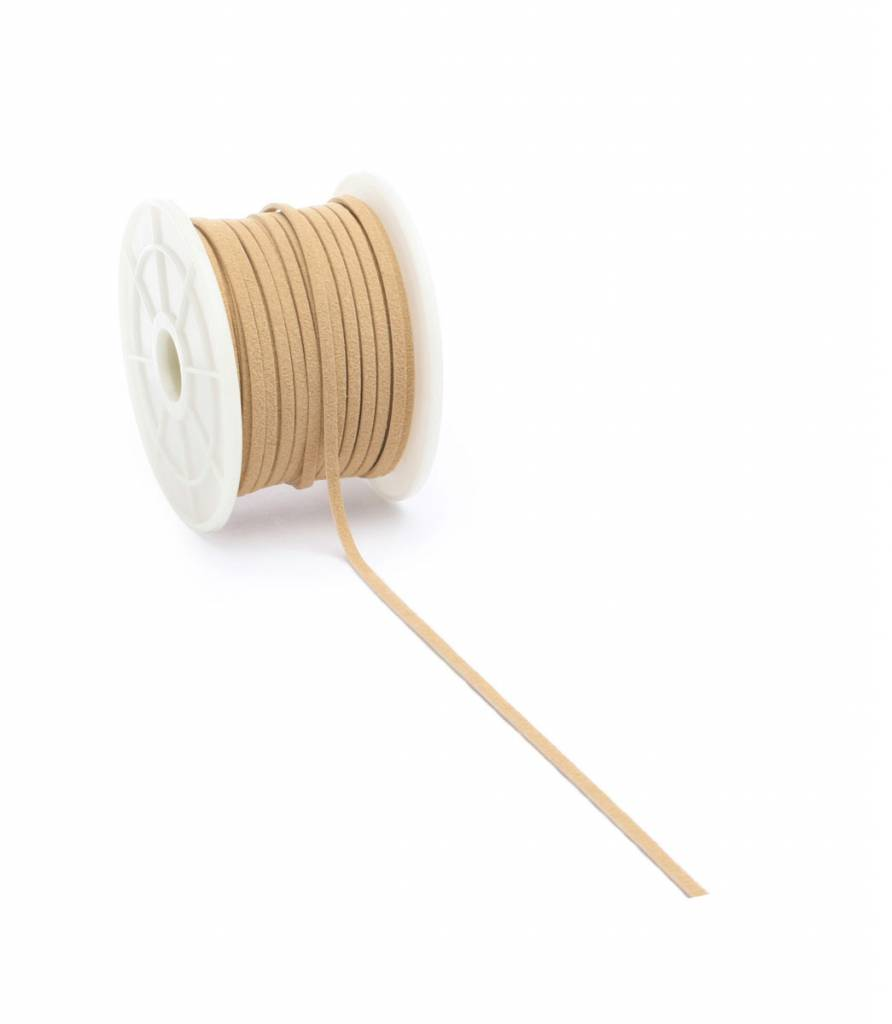 Suèdine cord - Ocre - 3 mm - 25 meter