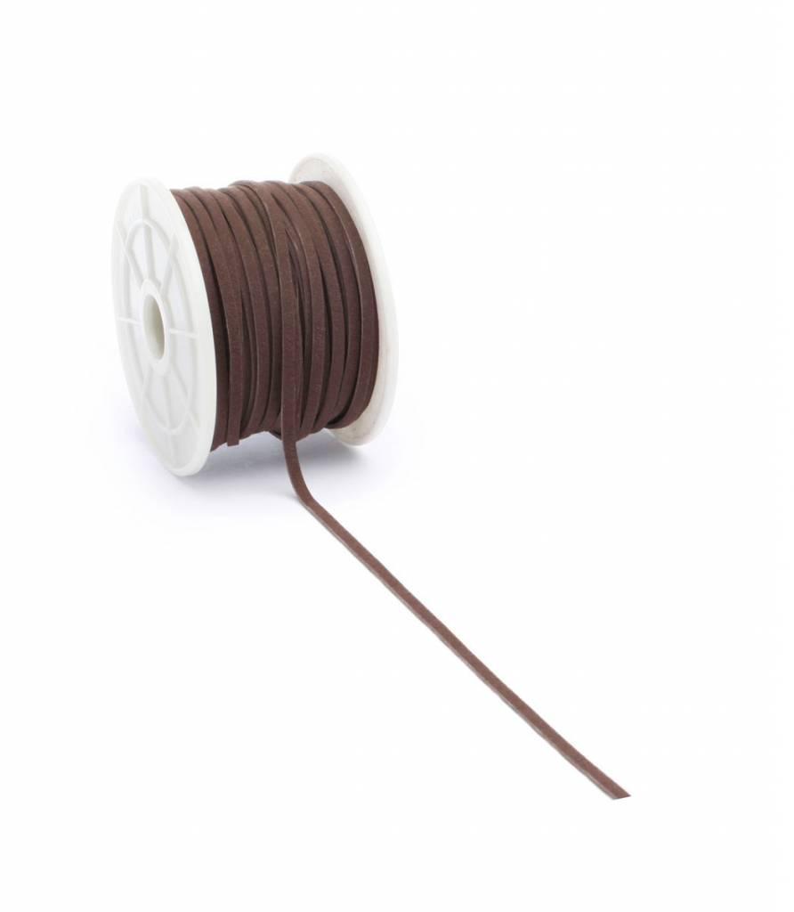 Suèdine cord - Brown - 3 mm - 25 meter