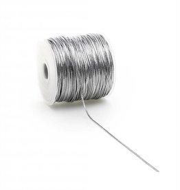 Round Elastic cord - Silver