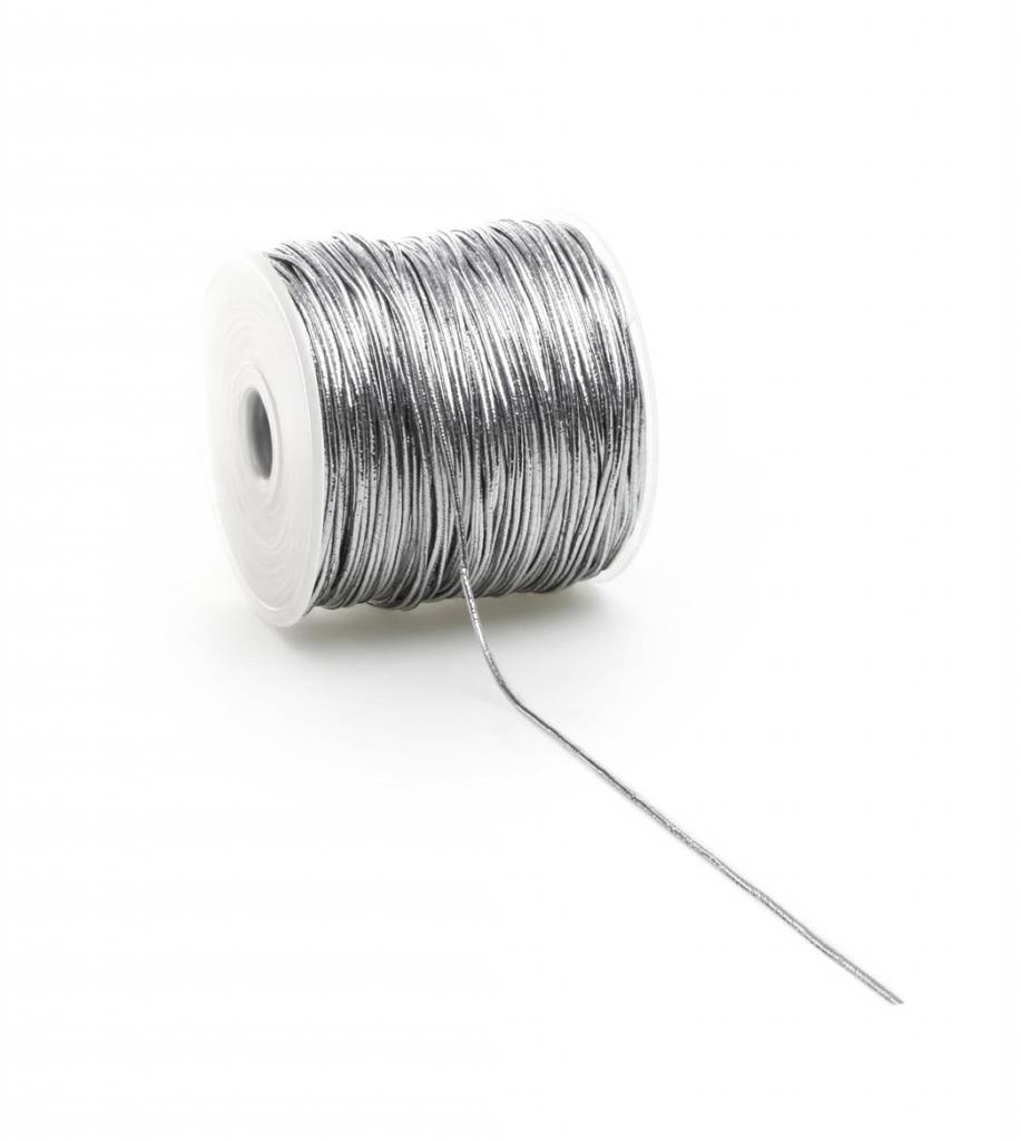 Round Elastic cord - Silver - 2 mm - 100 meter