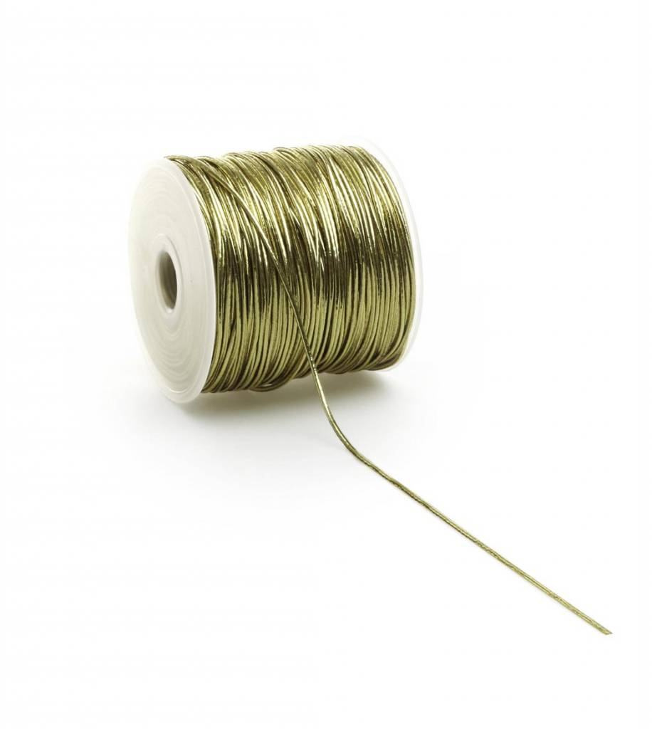 Round Elastic cord - Gold - 2 mm - 100 Meter