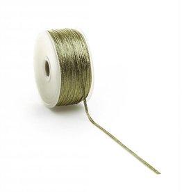Flat Elastic cord - Gold