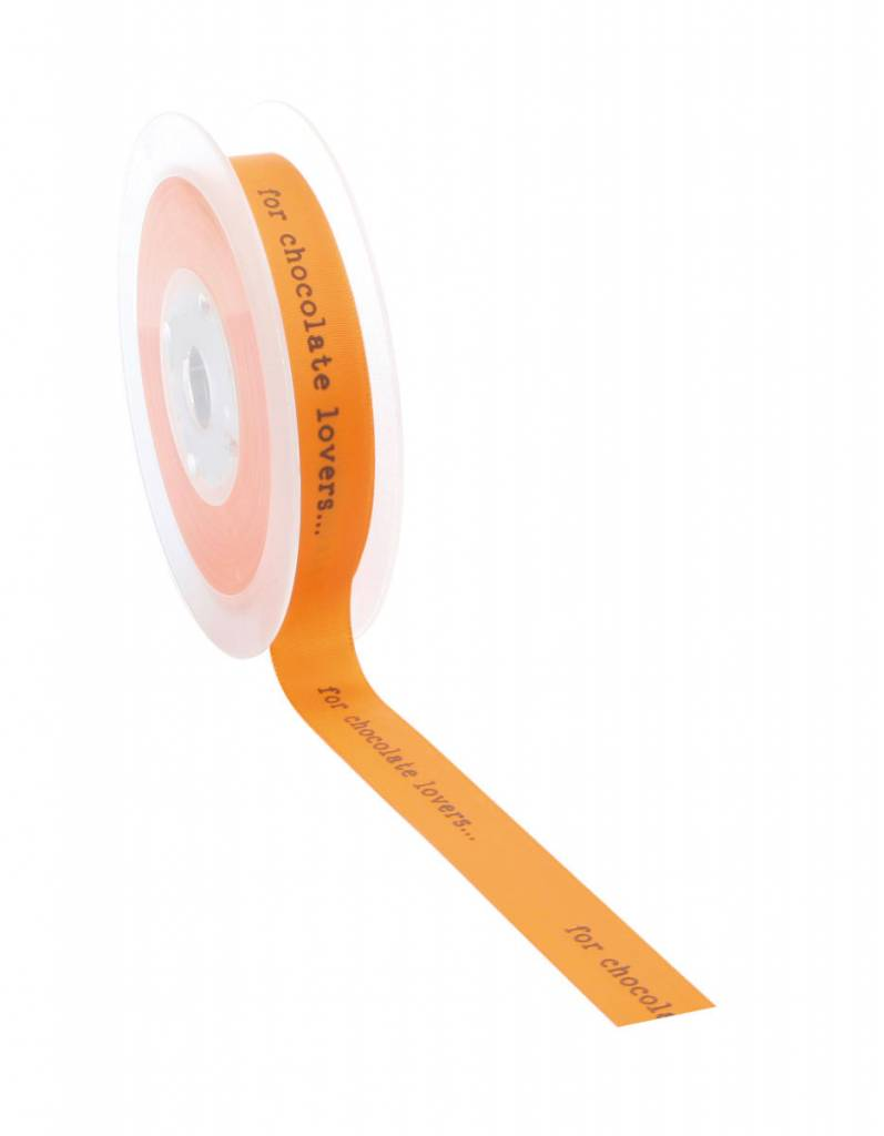 For chocolate lovers ribbon - Orange - 20m