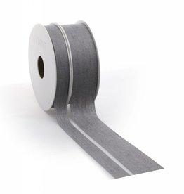 Denim ribbon - Grey