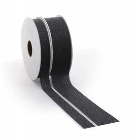 Denim ribbon - Black