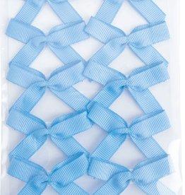 Single sticker bows grosgrain - 10 stuks