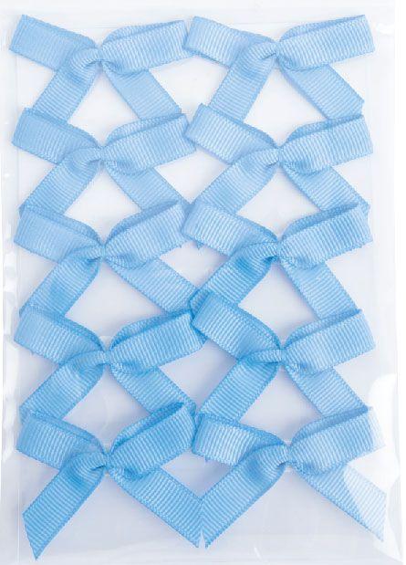 Single sticker bows grosgrain - 10 pieces