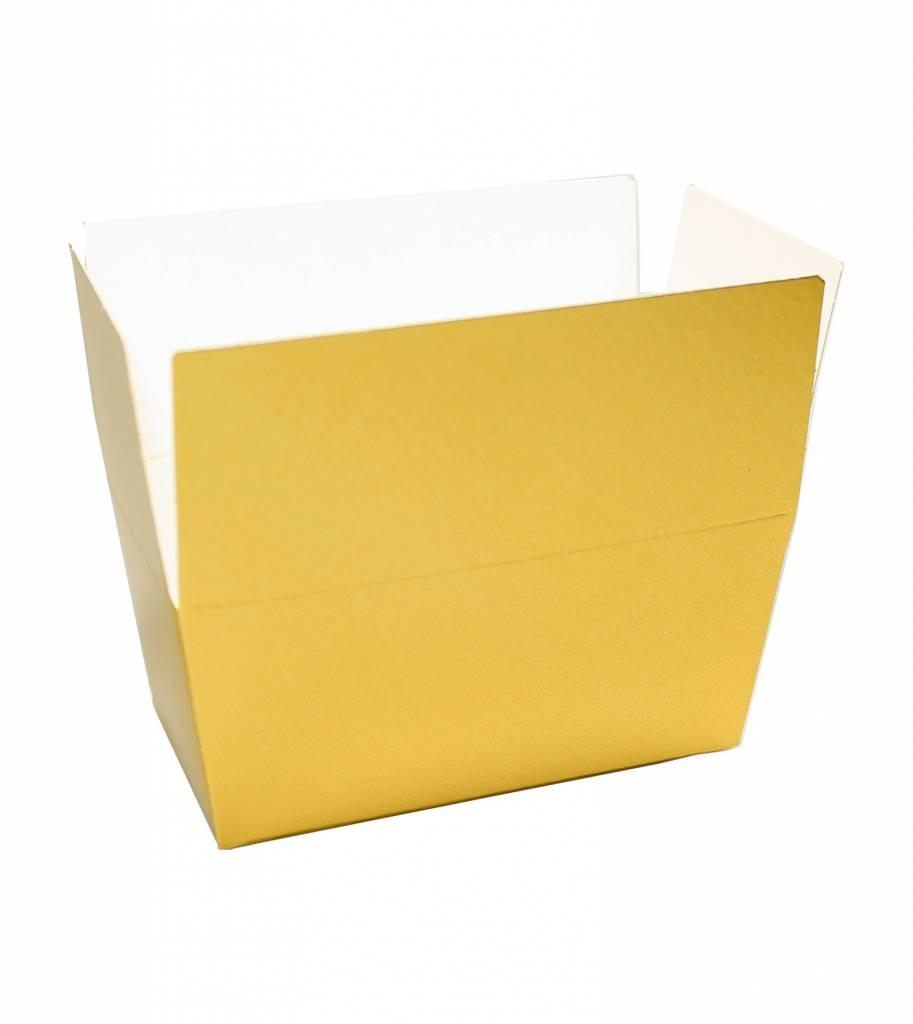 Ballotin Glänzend Gold/Weiss - 100 Stück