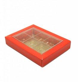 SixBox - rood - 100 stuks