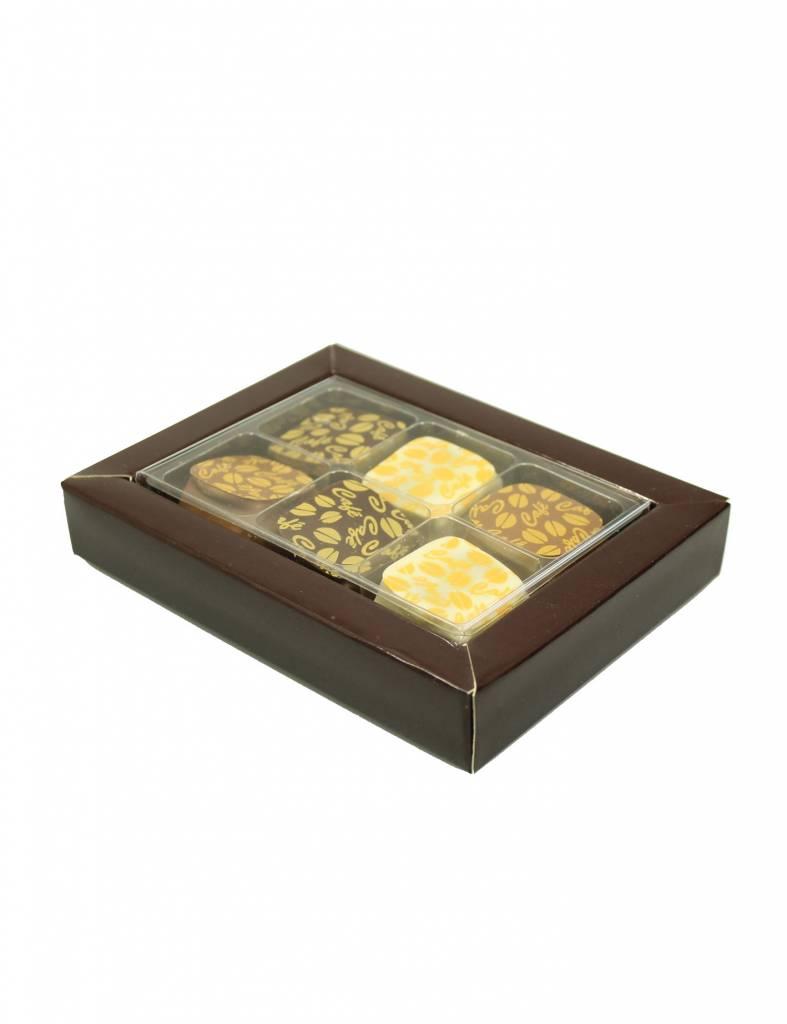 SixBox - bruin - 100 stuks