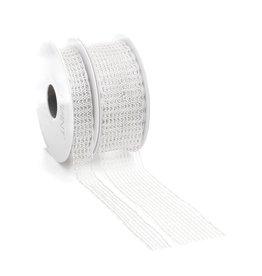Flow lint met draad - White