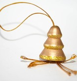 Pendant golden tree 27mm - 25 pieces