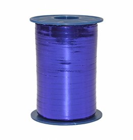 Ribbon curly - Royal Blue Metallic