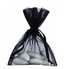 Organza zakjes - zwart - 50 stuks