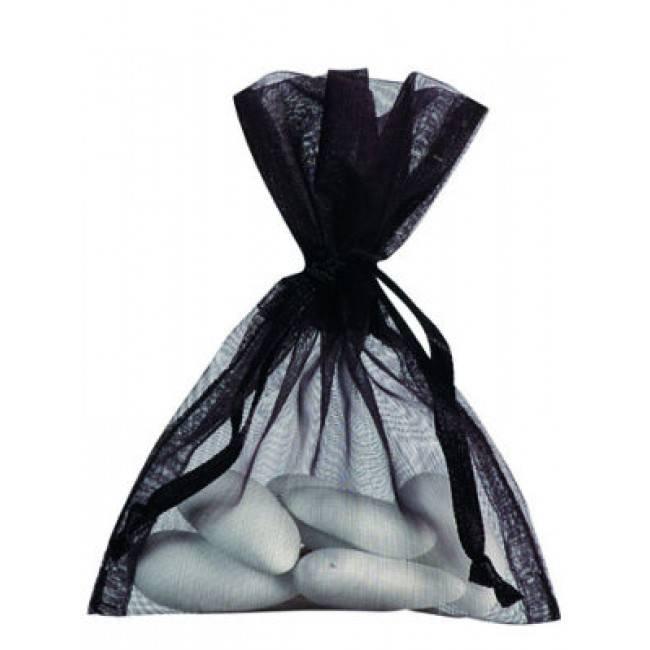 Organza Bag - Black - 50 pieces