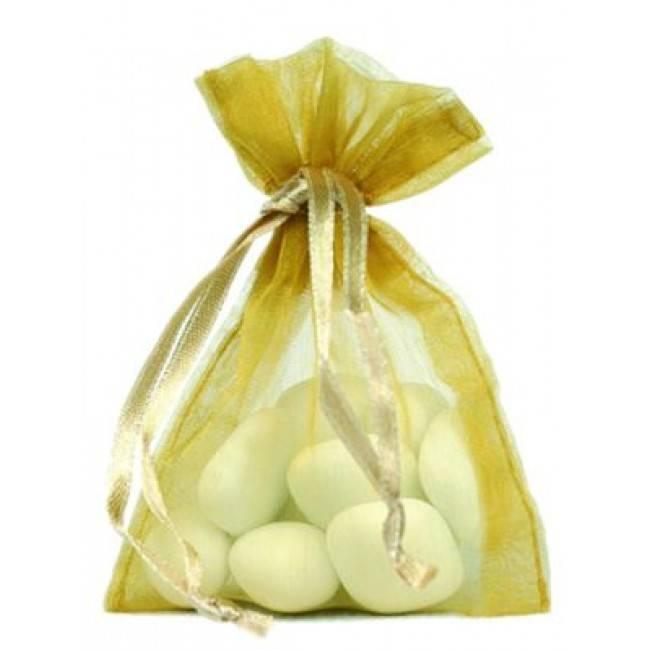 Organza zakjes - goud - 50 stuks