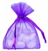 Organza zakjes - paars - 50 stuks