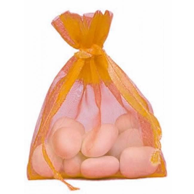 Organza Bag - Orange - 50 pieces