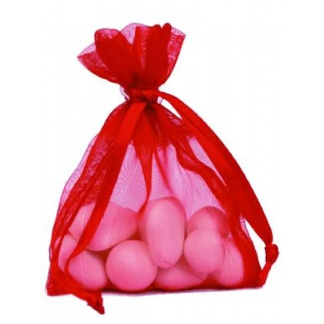 Organza zakjes - rood - 50 stuks