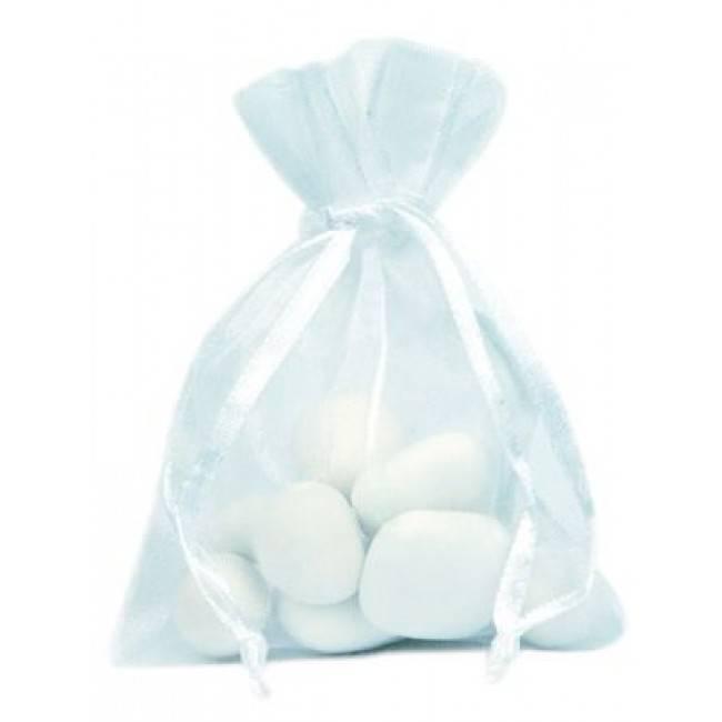 Organza Bag - White - 50 pieces