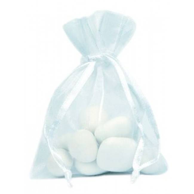 Organza Sachet - blanc  - 50 pièces
