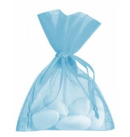 Organza Bag - light blue - 50 pieces