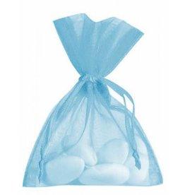 Organza zakjes - lichtblauw - 50 stuks
