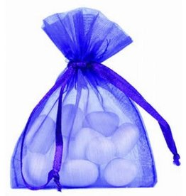 Organza Bag - cobalt blue - 50 pieces