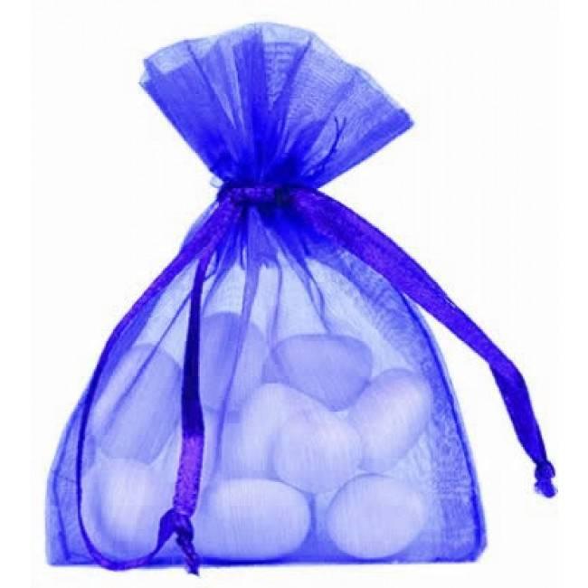 Organza zakjes - kobalt blauw - 50 stuks