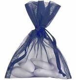 Organza Sachet - bleu foncé - 50 pièces