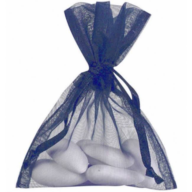 Organza zakjes - donker blauw - 50 stuks