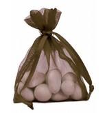 Organza Bag - brown - 50 pieces