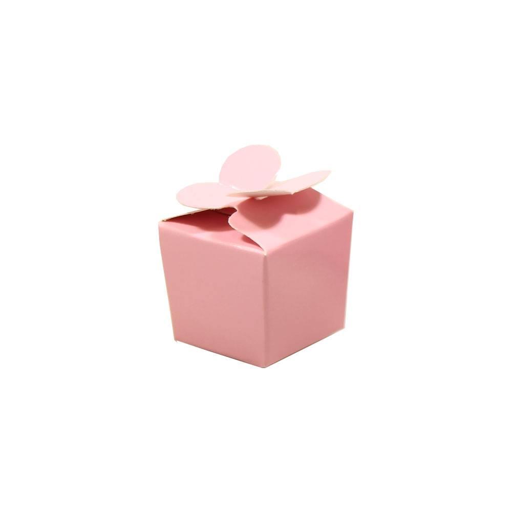 Mini ballotin für 1 Praline - rose - 30*30*30 mm - 100 Stück