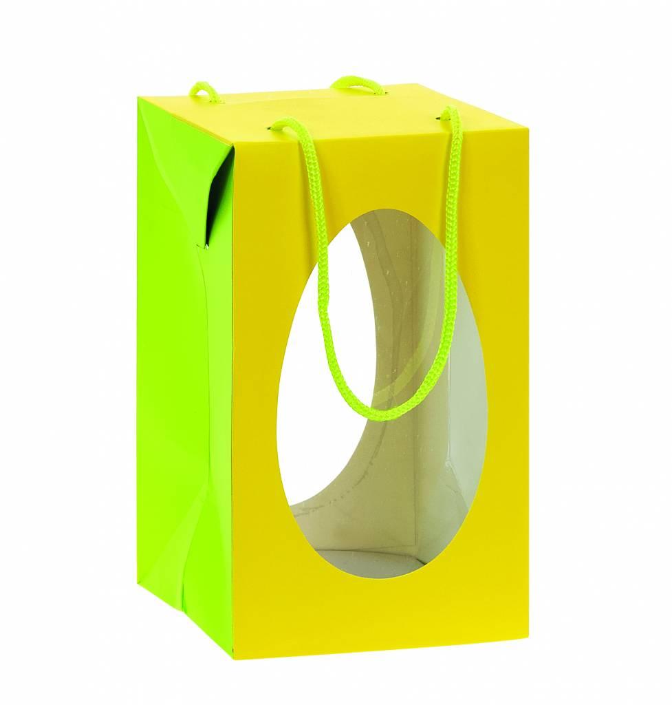 Osterei Schachteln Gelb/Limon mit Sockel Gelb