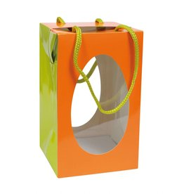 Osterei Schachteln Orange/Limon mit Sockel Orange